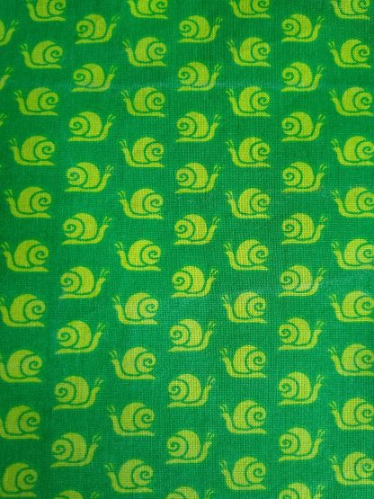 Snails Fabric for Facemasks and Wired Rockabilly Hairbands