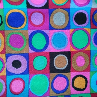 Kaffe Fassett Tiddliwinks Fabric for Facemasks and Wired Rockabilly Hairbands