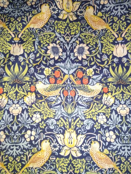 William Morris Strawberry Thief fabric for face masks and wired rockabilly hairbands