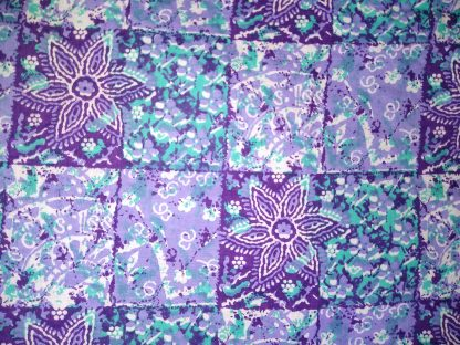 Purple Batik Squares Fabric for Facemasks and Wired Rockabilly Hairbands
