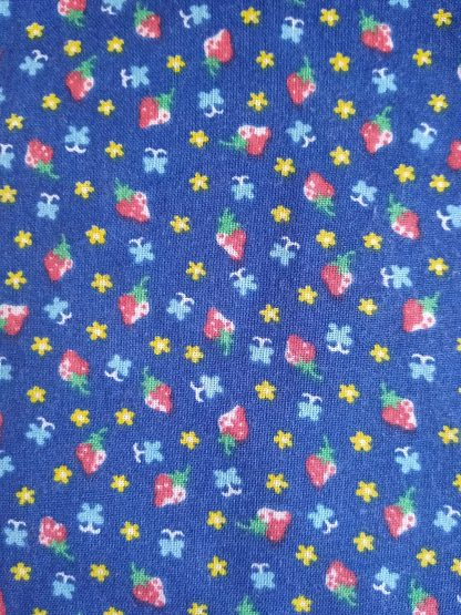 Strawberry Fabric for Facemasks and Wired Rockabilly Hairbands