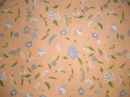 Laura Ashley Pretty as a peach fabric for Facemasks and Wired Rockabilly Hairbands