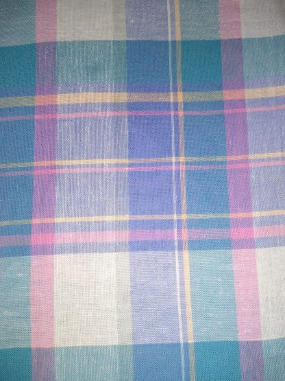 Purple Plaid fabric for facemasks and wired rockabilly hairbands