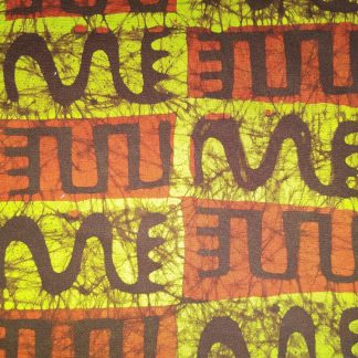 Green & Brown Batik fabric for facemasks and wired rockabilly hairbands