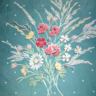 Vintage Bouquet Fabric for facemasks and wired rockabilly hairbands