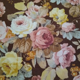 English Rose fabric for facemasks and Wired rockabilly hairbands