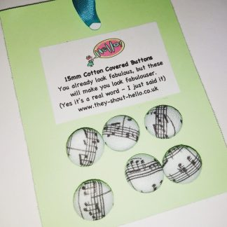 cotton covered 15mm wire backed buttons for sewing