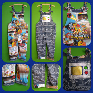 Thundercats and Robots fully reversible dungarees