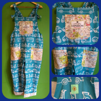London Maps dungarees